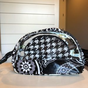 Vera Bradley Clear Cosmetic Duo Midnight Paisley